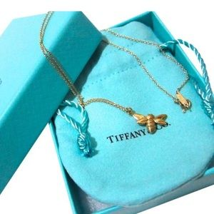 Tiffany & Co 18k Gold Bee Necklace